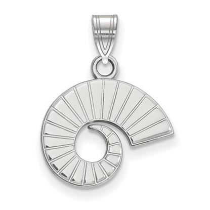 Picture of Colorado State University Rams 10k White Gold Small Pendant