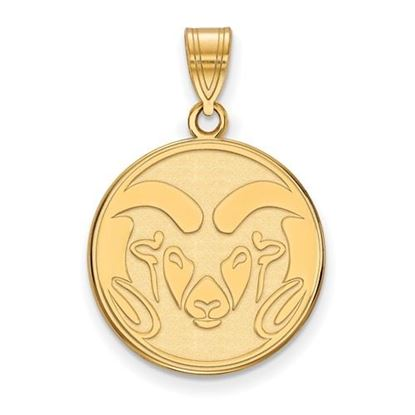 Picture of Colorado State University Rams Sterling Silver Gold Plated Rams Pendant
