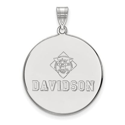 Picture of Davidson College Wildcats 10k White Gold Extra Large Disc Pendant