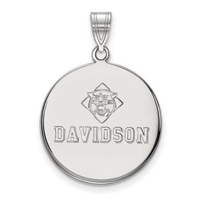 Picture of Davidson College Wildcats 14k White Gold Large Disc Pendant