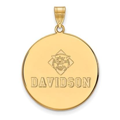 Picture of Davidson College Wildcats 14k Yellow Gold Extra Large Disc Pendant