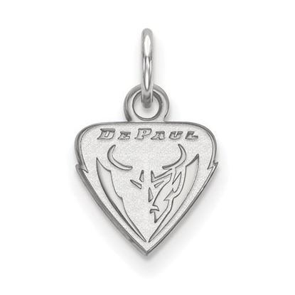 Picture of DePaul University Blue Demons 10k White Gold Extra Small Pendant