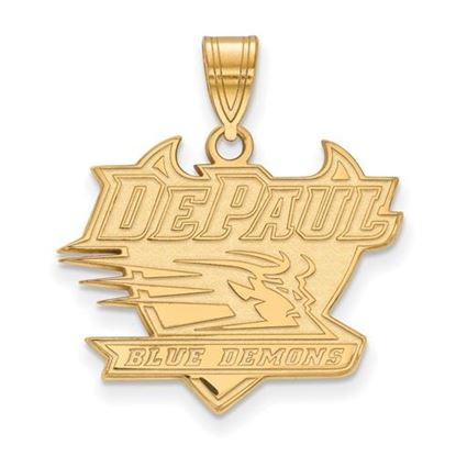 Picture of DePaul University Blue Demons Sterling Silver Gold Plated Large Pendant