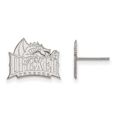 Picture of Drexel University Dragons 10k White Gold Small Post Earrings