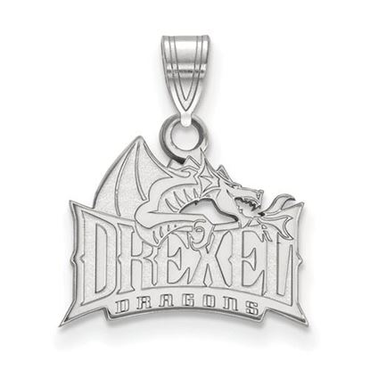 Picture of Drexel University Dragons 10k White Gold Small Pendant