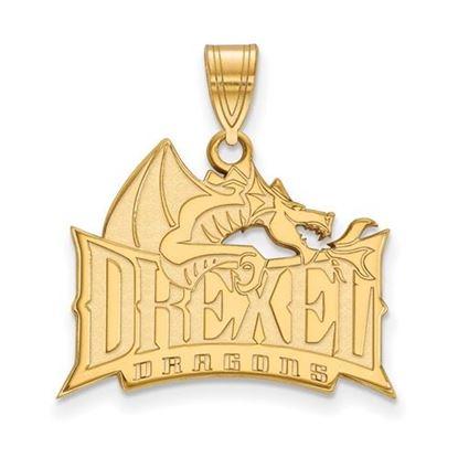Picture of Drexel University Dragons 14k Yellow Gold Large Pendant