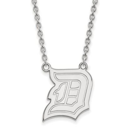 Picture of Duquesne University Dukes 14k White Gold Large Necklace