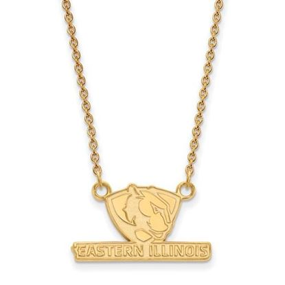 Picture of Eastern Illinois University Panthers 10k Yellow Gold Small Necklace