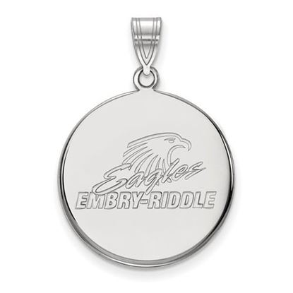 Picture of Embry-Riddle Aeronautical University Eagles 10k White Gold Large Disc Pendant