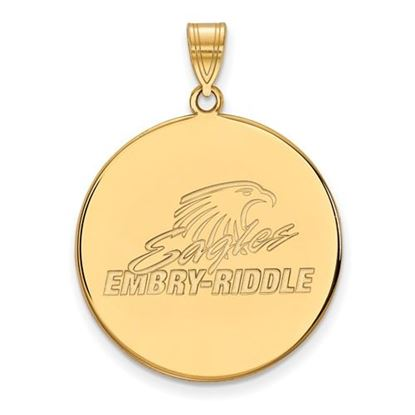 Picture of Embry-Riddle Aeronautical University Eagles 14k Yellow Gold Extra Large Disc Pendant