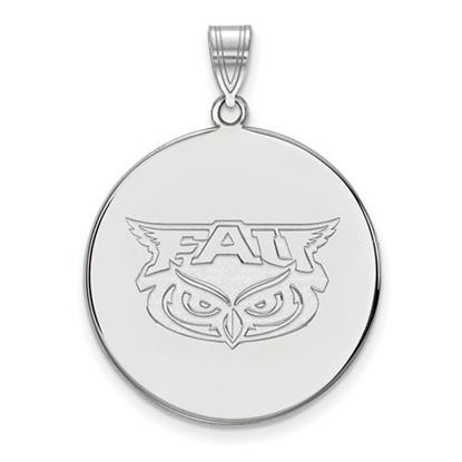 Picture of Florida Atlantic University Owls 10k White Gold Extra Large Disc Pendant