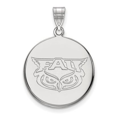 Picture of Florida Atlantic University Owls 14k White Gold Large Disc Pendant