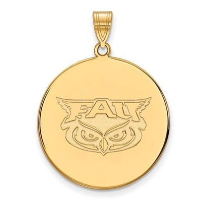 Picture of Florida Atlantic University Owls 14k Yellow Gold Extra Large Disc Pendant