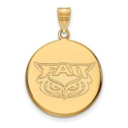 Picture of Florida Atlantic University Owls 14k Yellow Gold Large Disc Pendant