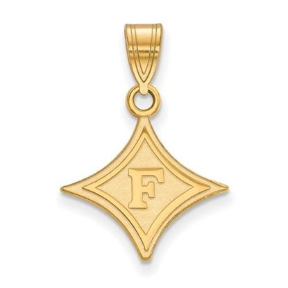 Picture of Furman University Paladins Sterling Silver Gold Plated Medium Pendant