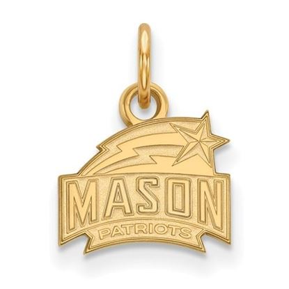 Picture of George Mason University Patriots Sterling Silver Gold Plated Extra Small Pendant