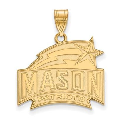 Picture of George Mason University Patriots Sterling Silver Gold Plated Large Pendant
