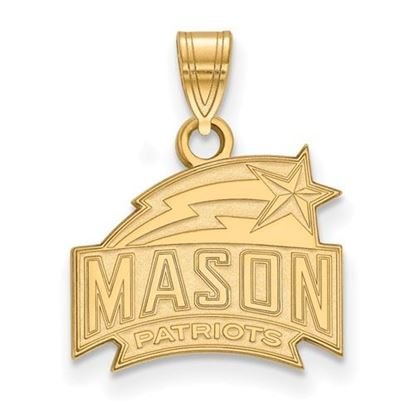 Picture of George Mason University Patriots Sterling Silver Gold Plated Small Pendant