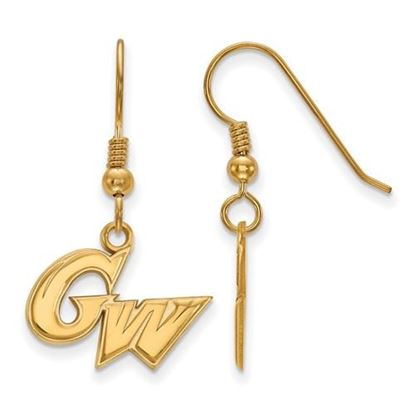 Picture of The George Washington University Colonials Sterling Silver Gold Plated Small Dangle Earrings