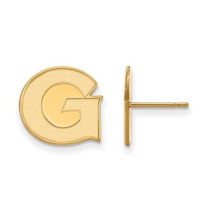 Picture of Georgetown University Hoyas 10k Yellow Gold Small Post Earrings