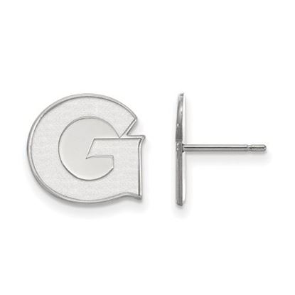 Picture of Georgetown University Hoyas 14k White Gold Small Post Earrings