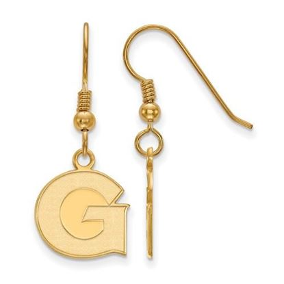 Picture of Georgetown University Hoyas Sterling Silver Gold Plated Small Dangle Earrings