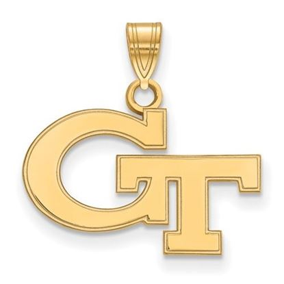 Picture of Georgia Tech Yellow Jackets Sterling Silver Gold Plated Small Pendant