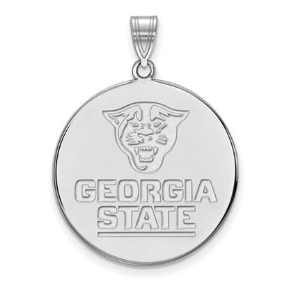 Picture of Georgia State University Panthers 10k White Gold Extra Large Disc Pendant
