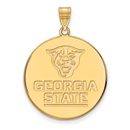 Picture of Georgia State University Panthers 10k Yellow Gold Extra Large Disc Pendant