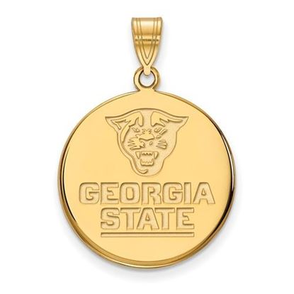 Picture of Georgia State University Panthers Sterling Silver Gold Plated Large Disc Pendant