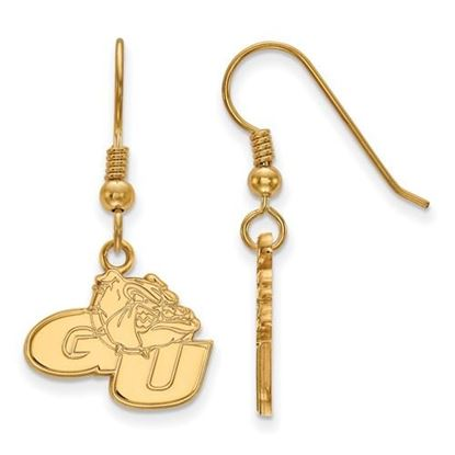 Picture of Gonzaga University Bulldogs Sterling Silver Gold Plated Small Dangle Earrings