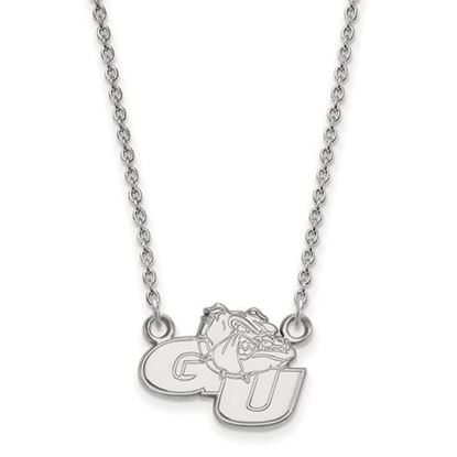 Picture of Gonzaga University Bulldogs 10k White Gold Small Necklace