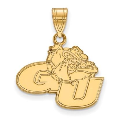 Picture of Gonzaga University Bulldogs Sterling Silver Gold Plated Medium Pendant