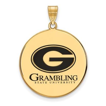 Picture of Grambling State University Tigers Gold Plated Enameled Tigers Pendant