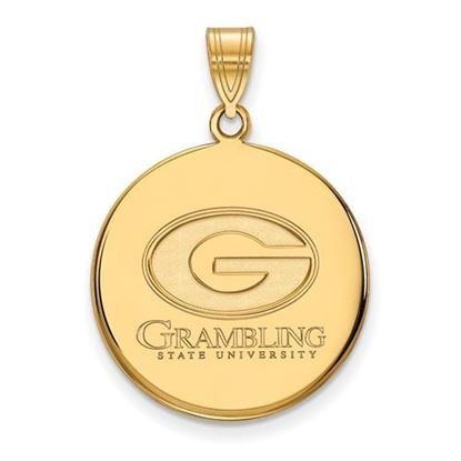 Picture of Grambling State University Tigers Sterling Silver Gold Plated Large Disc Pendant