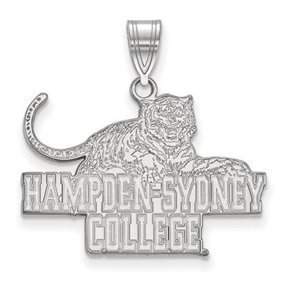 Picture of Hampden-Sydney College Tigers 10k White Gold Large Pendant