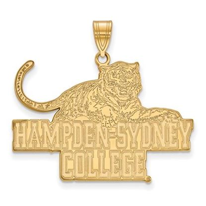 Picture of Hampden-Sydney College Tigers Sterling Silver Gold Plated Extra Large Pendant