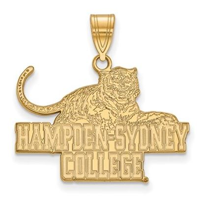 Picture of Hampden-Sydney College Tigers Sterling Silver Gold Plated Large Pendant