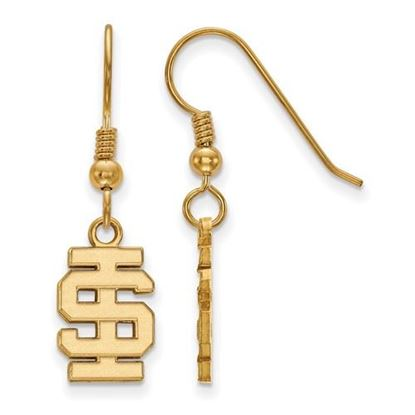 Picture of Idaho State University Bengals Sterling Silver Gold Plated Small Dangle Earrings