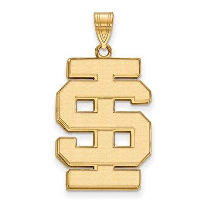 Picture of Idaho State University Bengals Sterling Silver Gold Plated Extra Large Pendant