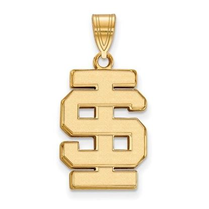 Picture of Idaho State University Bengals Sterling Silver Gold Plated Large Pendant