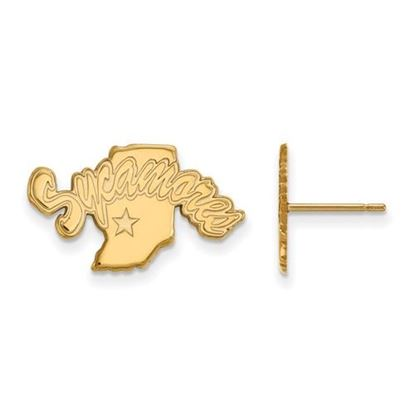 Picture of Indiana State University Sycamores 10k Yellow Gold Small Post Earrings