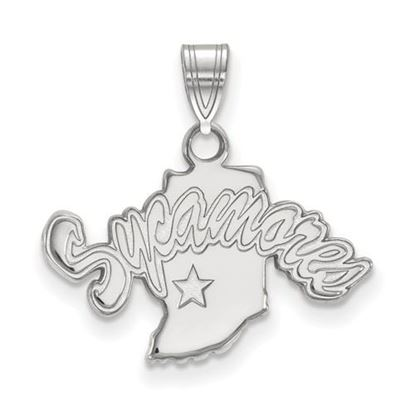 Picture of Indiana State University Sycamores 10k White Gold Small Pendant