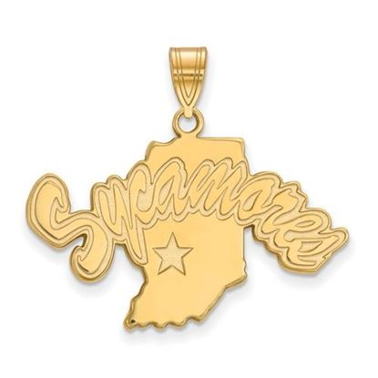 Picture of Indiana State University Sycamores Sterling Silver Gold Plated Large Pendant