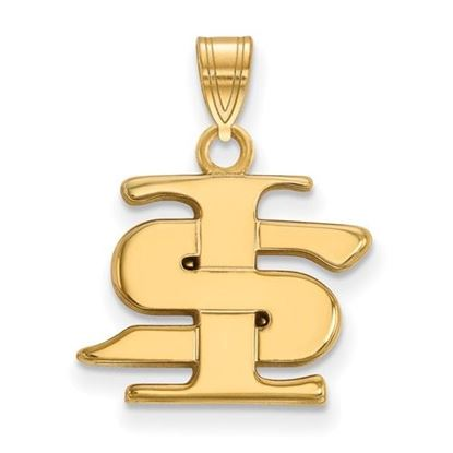 Picture of Indiana State University Sycamores Sterling Silver Gold Plated Small Pendant