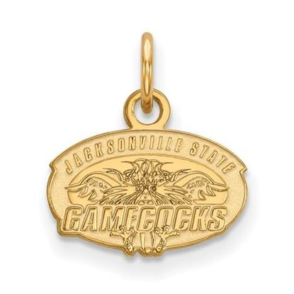 Picture of Jacksonville State University Gamecocks Sterling Silver Gold Plated Extra Small Pendant