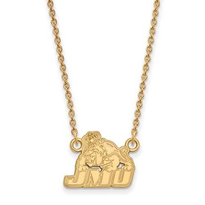 Picture of James Madison University Dukes Sterling Silver Gold Plated Small Necklace
