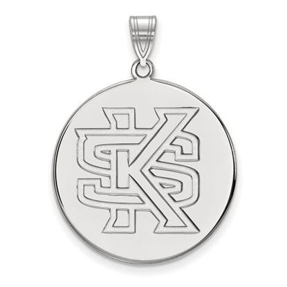 Picture of Kennesaw State University Owls 14k White Gold Extra Large Disc Pendant