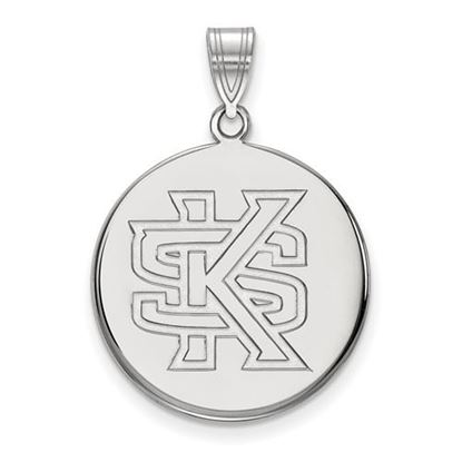 Picture of Kennesaw State University Owls 14k White Gold Large Disc Pendant