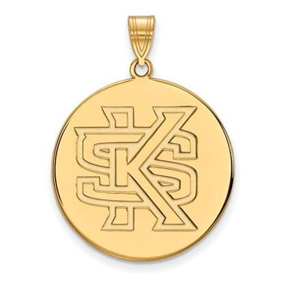 Picture of Kennesaw State University Owls Sterling Silver Gold Plated Extra Large Disc Pendant